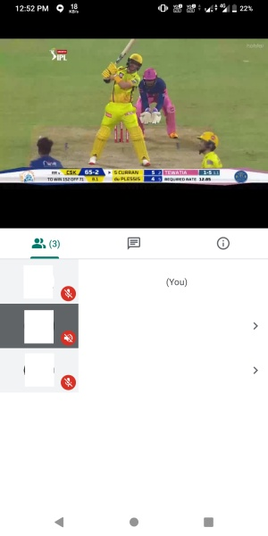 Hotstar IPL Streaming via Google Meet