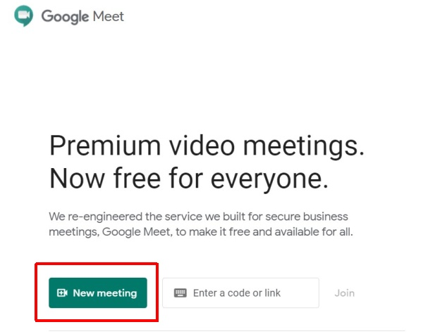Open Google Meet on PC or Desktop