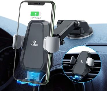 Andobil Car Mount for iPhone 12, 12 Pro, 12 Pro Max and iPhone 12 Mini with wireless charging
