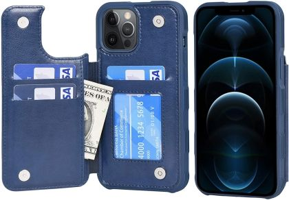 Arae iPhone 12 Pro Max Wallet Case with Flip Cover and Leather Card Pockets