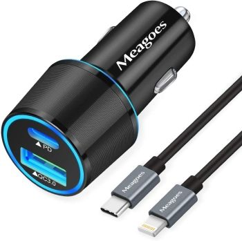 Best USB C iPhone 12 Car Charger from Meagoes
