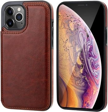 Onetop iPhone 12 Pro Max Wallet Case with 4 Card Slots and Kickstand