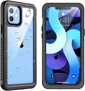 Snowfox iPhone 12 Mini Waterproof case with built-in screen protector
