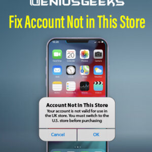 Fix Account Not in This Store