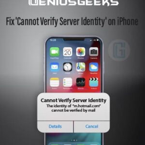 Cannot Verify Server Identity on iPhone Fixed