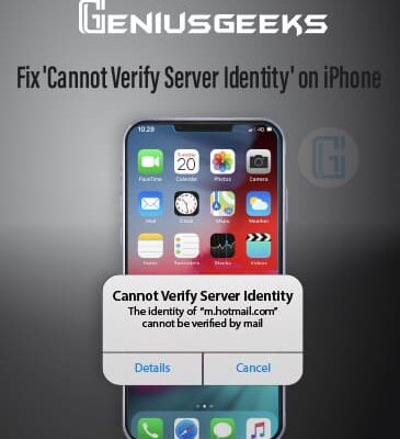 7 Ways to Fix 'Cannot Verify Server Identity' on iPhone!