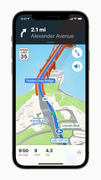 Apple Maps Update in iOS 15
