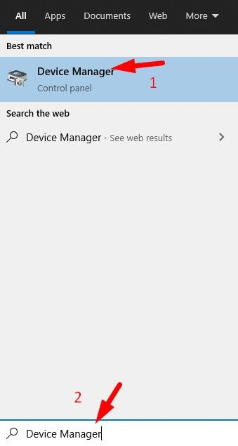 Open Device Manager from Windows Search