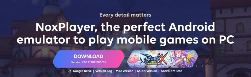 Download NoxPlayer on PC or Mac