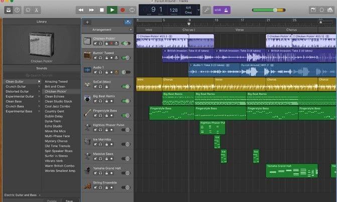 Garageband App for Music Production on Mac