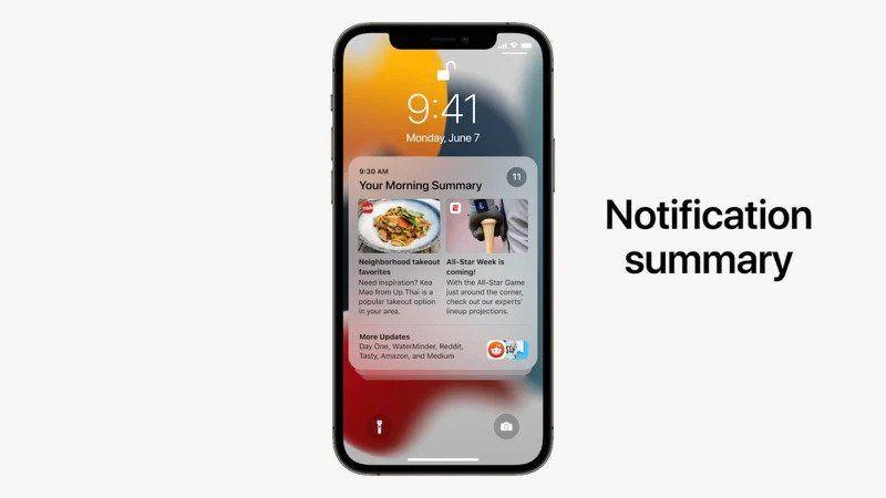 Notifications Summary in iOS 15