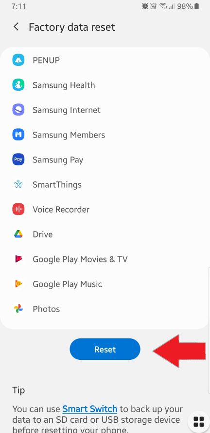 How to Factory Reset Samsung Galaxy A31