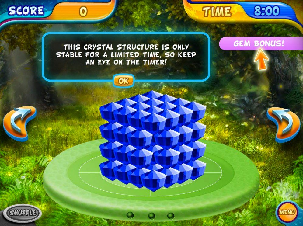 Mahjongg Dimensions Deluxe gem tiles