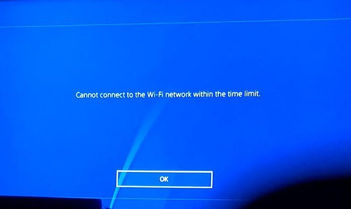 Can't connect to the PlayStation Network