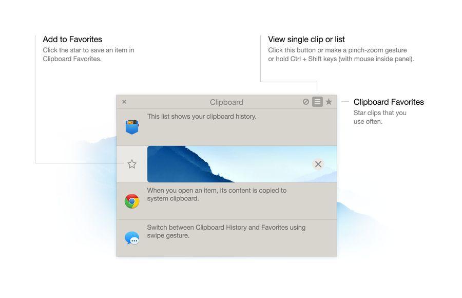 Clipboard UI