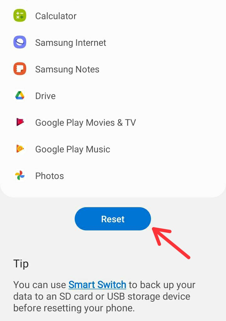 How to Factory Reset Samsung Galaxy A22