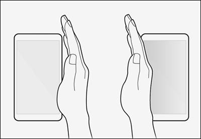How to Take Screenshot on Samsung Galaxy A22 Using Palm Swipe Method