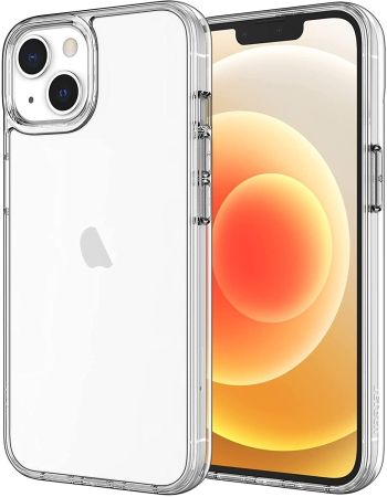 JETech Anti Scratch Clear Back Case for iPhone 13