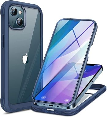 Miracase Glass Case with Bumper for iPhone 13