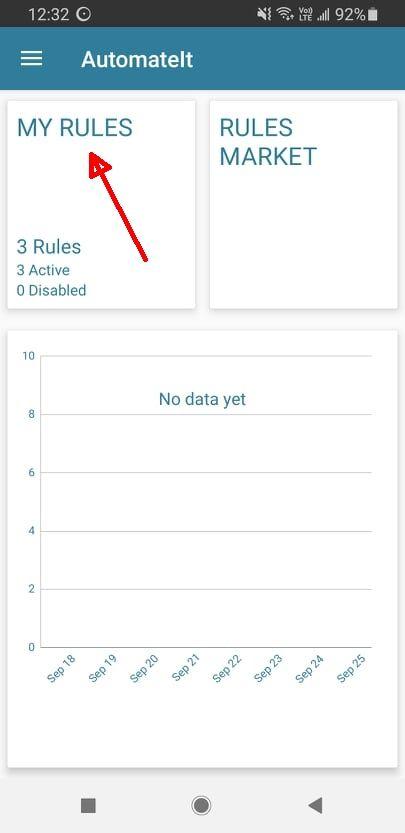 My Rules in AutomateIt App