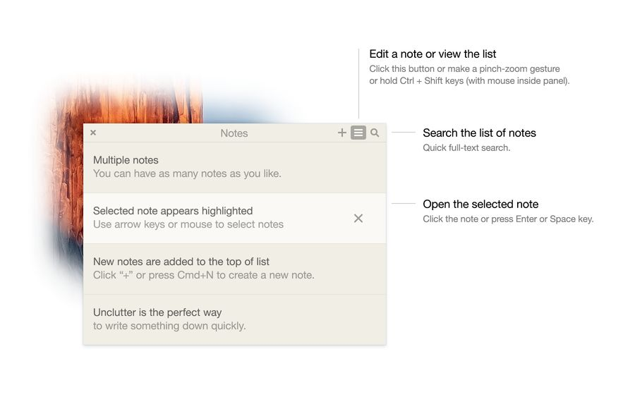 Notes UI Unclutter App