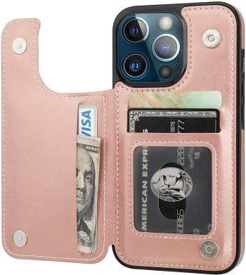 Onetop iPhone 13 Pro Wallet Case with Magnetic Clasp