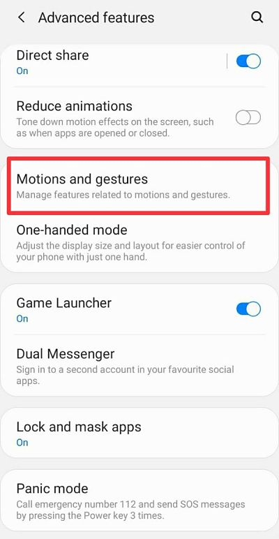 Open Motions & Gesture from Advance Features