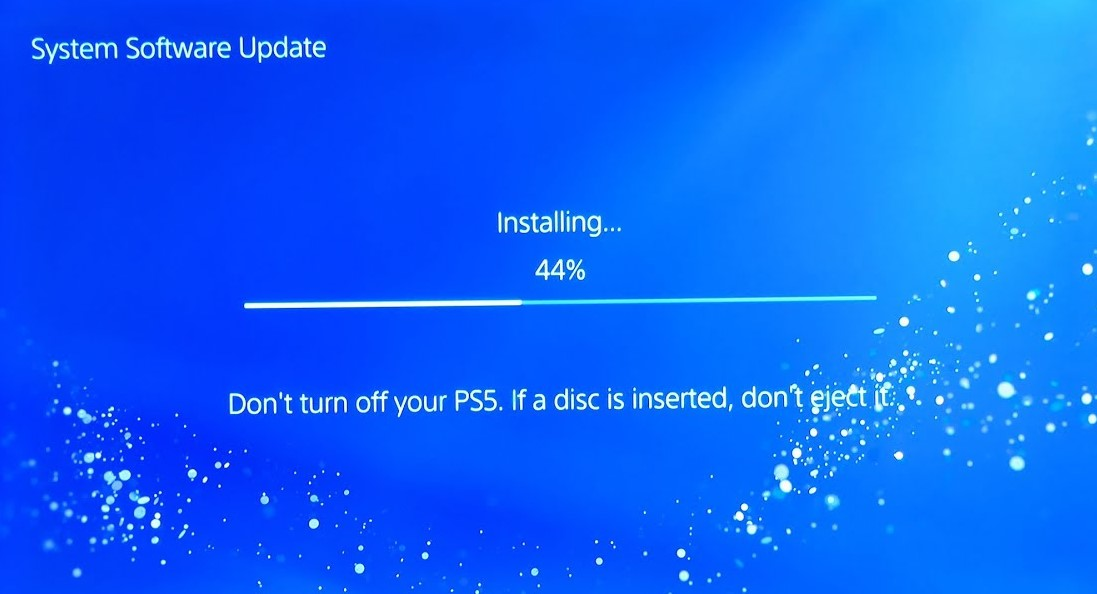 Perform a system update PS5