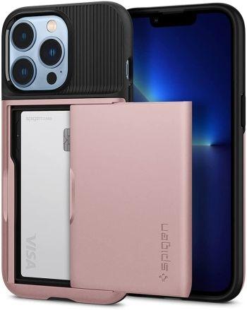 Spigen Slim Armor Case for iPhone 13 Pro Rose Gold Color