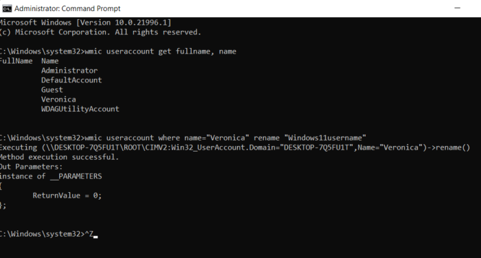 change username in CMD