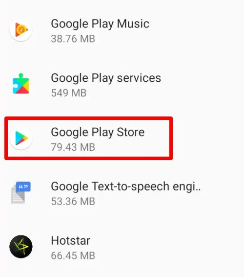 find Google Play Store & open it