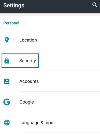 find security privacy and open it