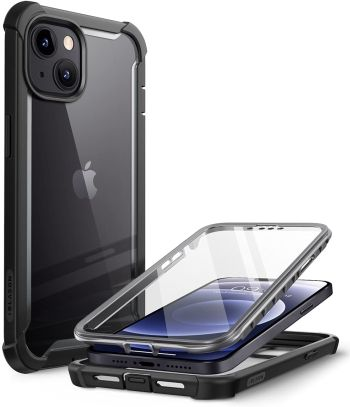 iBlason Ares Case for iPhone 13 with Rugged Bumper and Screen Protector